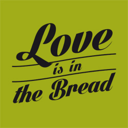 "Ilustración ""Love is in the Bread"""