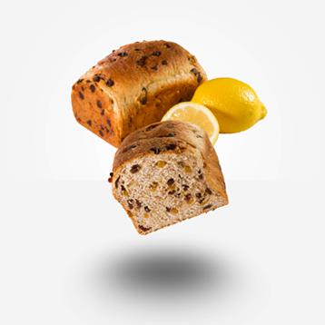 Pan de centeno, limón y chocolate